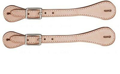 New Showman Basic Heavy Stitched Light Oil Ladies Spur Straps New Western Tack