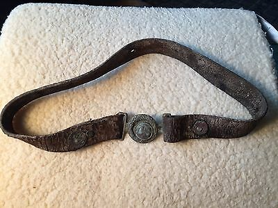Confederate Love Letter, Cash & Cs Serifs Plate Buckle & Belt, Marked Slave !