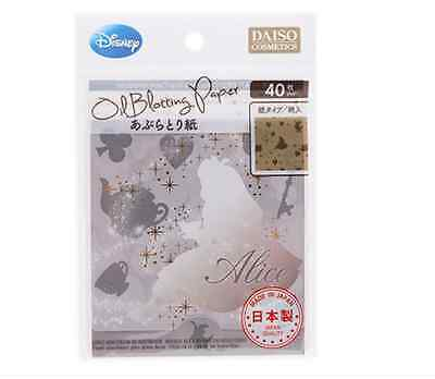 Daiso Japan Disney Alice Oil Blotting Paper 40 Sheets Made In Japan