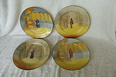 Vintage Set of Four Royal Doulton Series Ware Tea Plates 1930's : Shakespeare