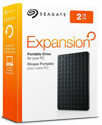 "Seagate Expansion 2TB Portable External Hard Drive Disk 2.5"" USB 3.0 PC MAC"