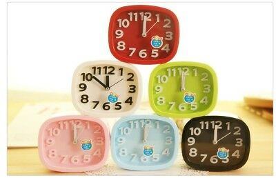 Mute Analog Alarm Clock Analogue Clocks Battery Desktop Table Bedside