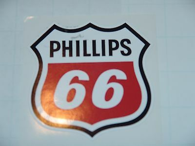 """4"""" Phillips 66 Gasoline Decal Gas And Oil Pump, Sign Wall Sticker New"""
