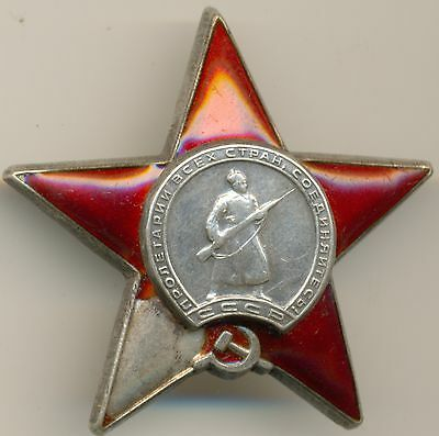 Ussr Ww2 Order Of Red Star # 1.636.904 Original!!! 1945