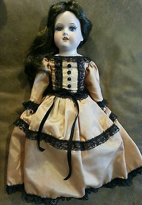 Leather Body Reproduction Porcelain Doll
