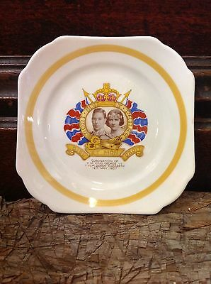 Coronation plate H M King George VI & Queen Elizabeth May 12 1937 Shelley