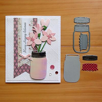 IMPRESSION OBSESSION MASON JAR Cutting Die 3 Pieces - BNIP