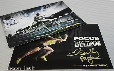 Olympic Gold Medal Hurdlest Sally Pearson Signed A5 Card