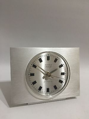 Kienzle Chronoquartz Design Tischuhr Alu Chrom 60er 70er Table Clock 70s Luxus
