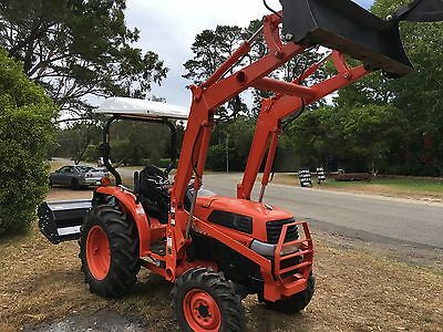 Kubota 36HP 4x4 4in1 Bucket Flail Mower Tractor 3pl PTO Delivery 300ks