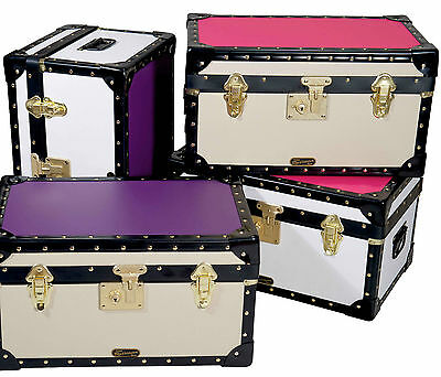 British Mossman Traditional Boarding School Flip Lock Tuck Box - Luggage Trunk