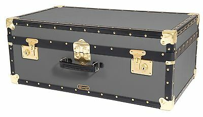 CHARCOAL GREY Traditional British Mossman Vintage Attache Luggage Storage Trunk