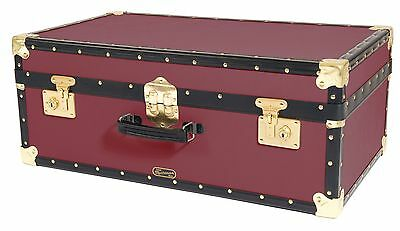 BURGUNDY Traditional British Mossman Made Vintage Attache Luggage Storage Trunk