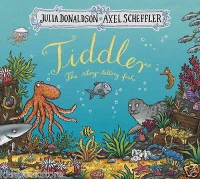 Julia Donaldson Story Book - TIDDLER THE STORY TELLING FISH - Paperback - NEW