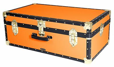 ORANGE Traditional British Mossman Made Vintage Classic Luggage Storage Trunk
