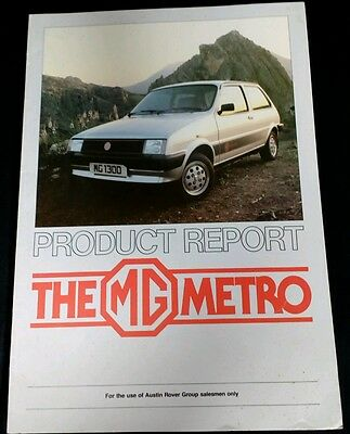 Original 1982 Mg Metro  Product Report For Dealer Salesmens Only  Rare
