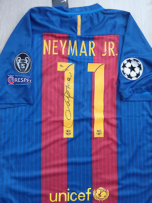 Neymar Jr. FC Barcelona 2016-17 signed jersey with COA