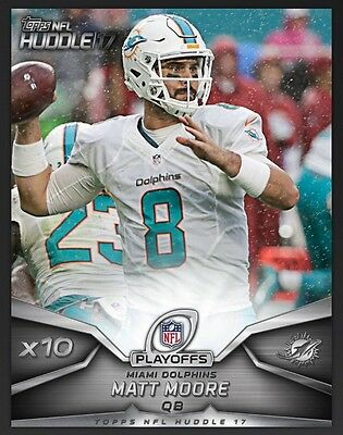 TOPPS NFL Huddle 2017: x10 Boost Matt Moore Miami Dolphins (1 card)