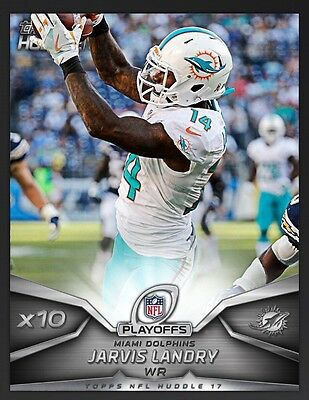 TOPPS NFL Huddle 2017: x10 Boost Jarvis Landry (1 card)