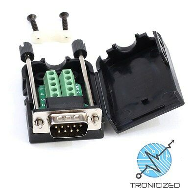 DB9 Female RS232 Serial Connector Breakout Board Screw Terminals Jack Post