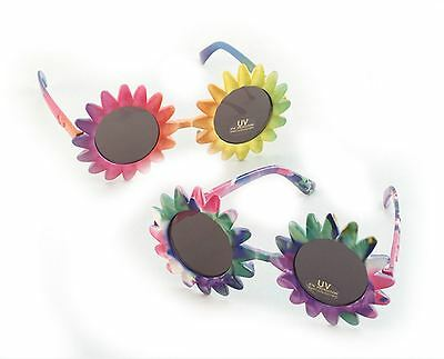 Sunflower Hawaiian Sunglasses Fancy Dress Tropical Beach Glasses Festival