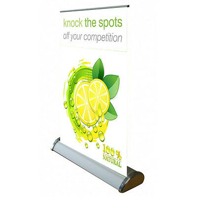 A4 Lightweight aluminium table top retractable roll-up stand Without Banner