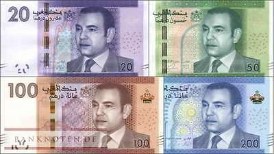 Morocco full set new banknotes 2013