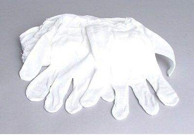 White Cotton Gloves Pack-8 Gloves, film, coins, CD/DVD, Handling Gloves