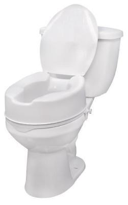 """Raised Toilet Seat 2"""" With Lid-110kg Weight Capacity COM802290"""