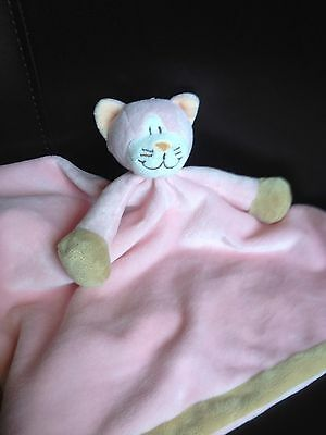 Diinglisar Cuddle Blanket Blankie KATT Pink Cat Kitten design Comforter Soft Toy