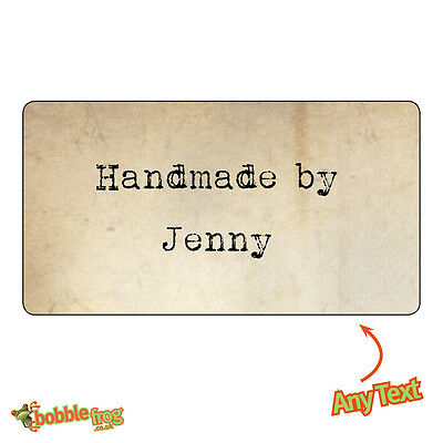 260 Personalised WEDDING Handmade by Shabby Vintage Rustic Effect Stickers 369