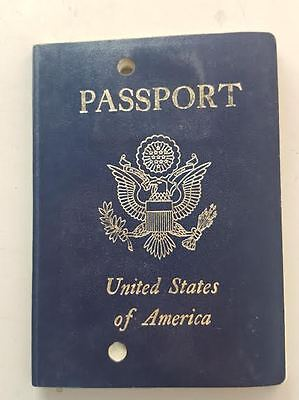VINTAGE USA CANCELED TURQUOISE PASSPORT UNITED STATES OF AMERICA stamped