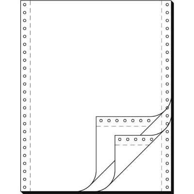 DIN-Computerpapier 3fach 12x240 mm (A4 hoch) längsperforiert 600 (32243)