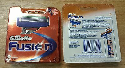 Gillette Fusion  Men's Razor Blades - 8 Blades and 2x4 blades NEW