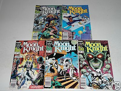 Moon Knight #1 THRU #5 STRAIGHT RUN DOUBLE SIZED ISS NEW COSTUME FIST OF KHONSHU