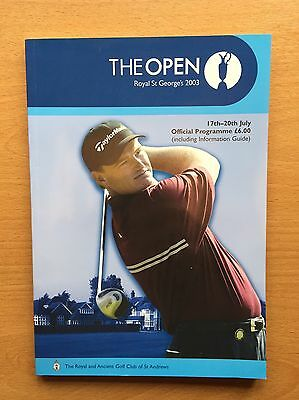 Official Programme THE OPEN ROYAL ST GEORGE'S 2003