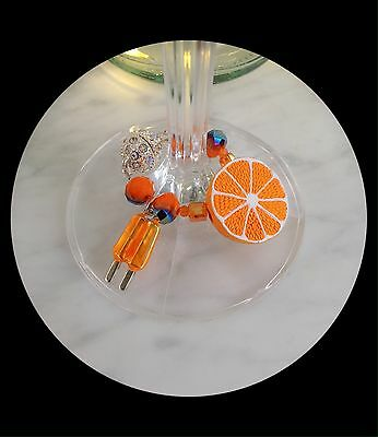 Magnetic wine charms Duo with Gems, Crystals, & adorable Orange Popsicle! ��