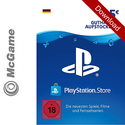 Playstation Network Code Key Card 5 Euro € EUR | PSN | PS4 PS3 Vita Guthaben