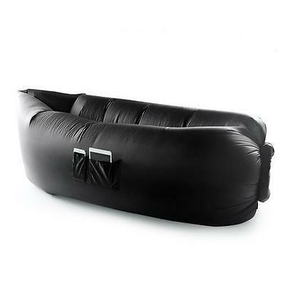 ChillSax Inflatable Air Lounger & Pool Float (Black)
