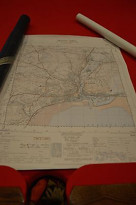 Vintage Collectable Ordnance Survey Map Printed 1947 South Wales British Made