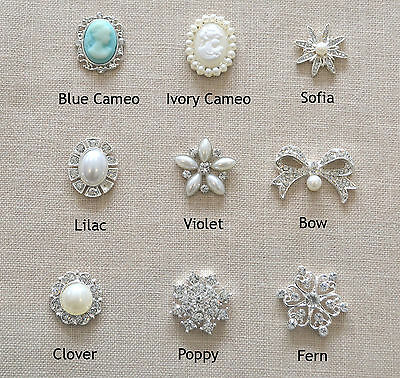 10 Pack of Vintage Pearl and Diamante Embellishments