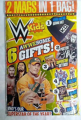 wwe kids magazine with kevin owens free beanie hat giant poster and more gifts
