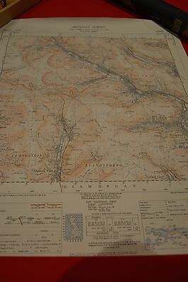 Vintage Collectable Maps Ordnance Survey Printed 1947 South Wales Rolled