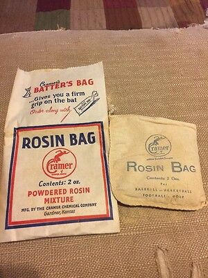 Vintage CRAMER ROSIN BAG Unused in Paper Packaging For Baseball