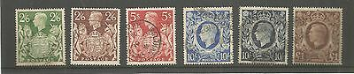 GB KGVI 1939 High values SG476-478c fine used set stamps cat £60   MY REF 259