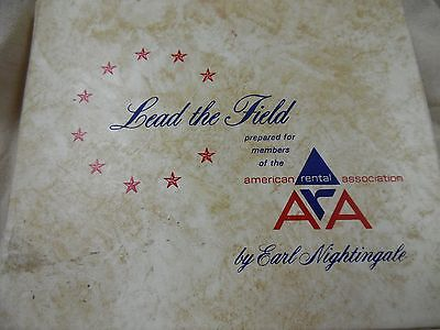 """Earl Nightingale Lead the Field Rare 33 RPM 12 - 7"""" records with book"""