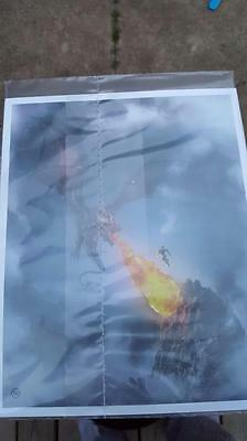 EXCLUSIVE Even Dragons Have Their Endings Art Print JRR Tolkien Loot Crate, NEW!