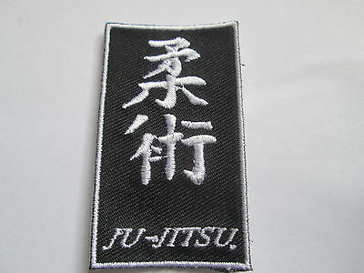 JU-JITSU Embroidered Iron or Sew  On Patch- Good Quality - P064