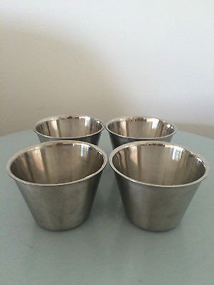 4 STAINLESS STEEL RESTAURANT MINI MIXING FOOD PREP BOWL DIAMETER 85mmHEIGHT60mm