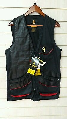 Browning Masters Shooting Vest , Rh, Black Size Small,bnwt
